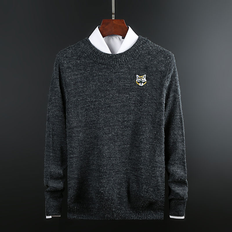 New Fashion Brand Sweater For Mens Pullovers O-Neck Thick Slim Fit Jumpers Knit Woolen Autumn Korean Style Casual Clothing Men