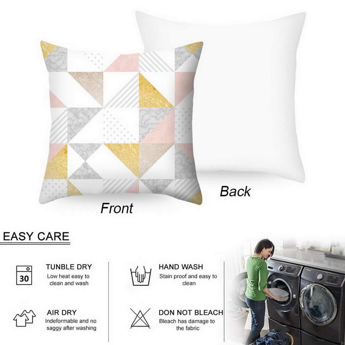 Yeni geometrik baskılı atmak minder örtüsü yatak odası baskı yastık kılıfı 45x45cm Grometric çizgili minder örtüsü s