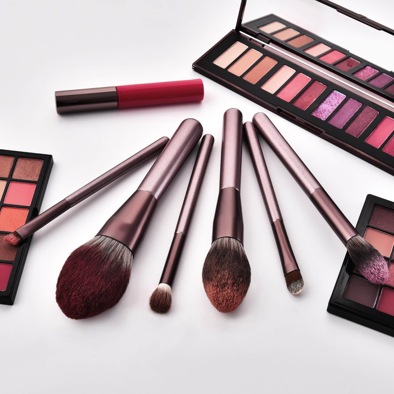 fundação blush mistura beleza compõem escova