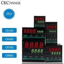 Double sortie SSR et relais CH102 CH402 CH702 CH902, deux sorties relais LCD numérique PID Intelligent température Controller48-240V AC