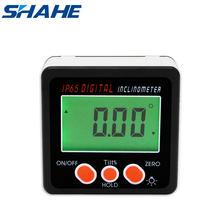 Shahe dijital seviye İletki İnklinometre manyetik seviye açı ölçer açı bulucu seviye kutusu dijital açı ölçer