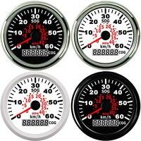 85mm Motorcycle Auto Truck Marine Boat GPS Speedometer Meter 60km/h Speed Gauge auto tachometer 9~32V painel universal moto