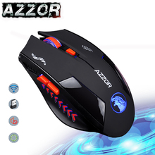 AZZOR Charged Silent Wireless Mouse Mute Button Noiseless Optical Gaming Mice 2400dpi Built in Battery For PC Laptop Computer