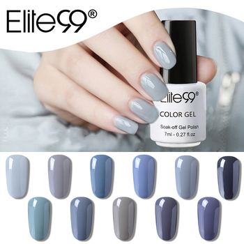 Elite99 7ml Grau Farbe Gel Polnisch LED UV Vernis Semi Permanent Top Mantel Gel Lack Nagel Kunst Maniküre Gel lak Polituren DIY Nägel