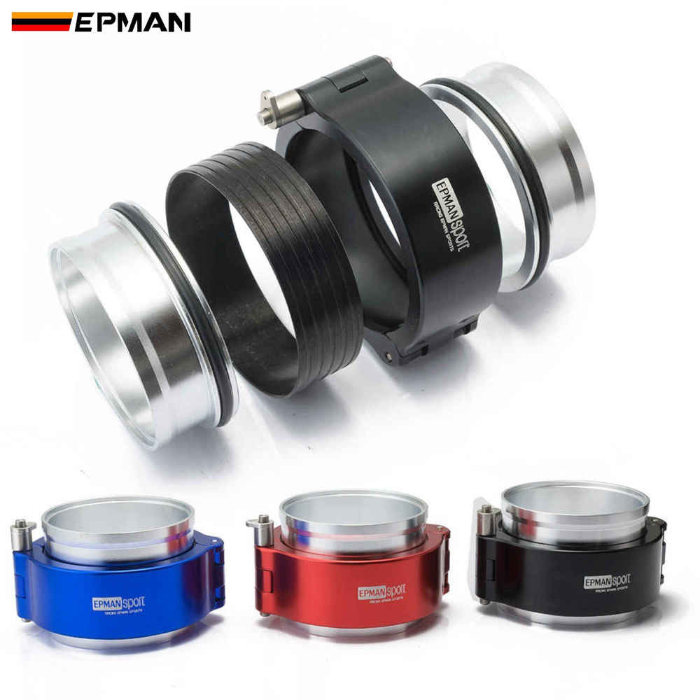 EPMAN HD Clamp System Assembly Exhaust V-band Clamp Quick Release For 2.5