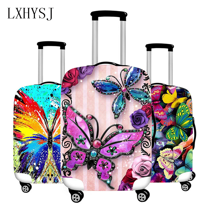 Butterfly Pattern Elasticity Luggage Cover Luggage Protective Covers For 18-32 Inches Suitcase Case Travel Accessories HW582