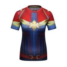T-Shirt Women Superhero Quick-Dry Sports Stretch Ladies Union Compression Quantum Slim