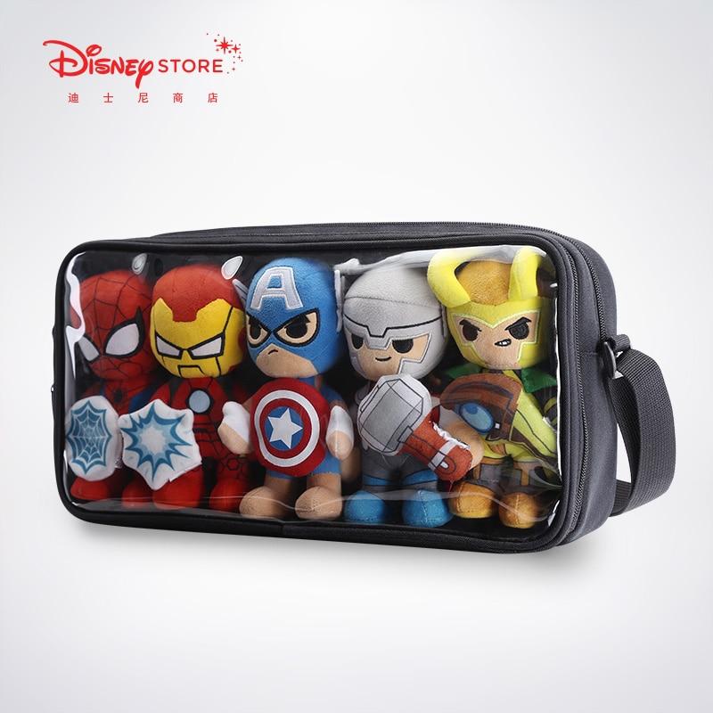 Original Disney Fashion Marvel Little Hero Pain Bag Transparent Diagonal Bag Tide Bag Men And Women Shoulder Bag