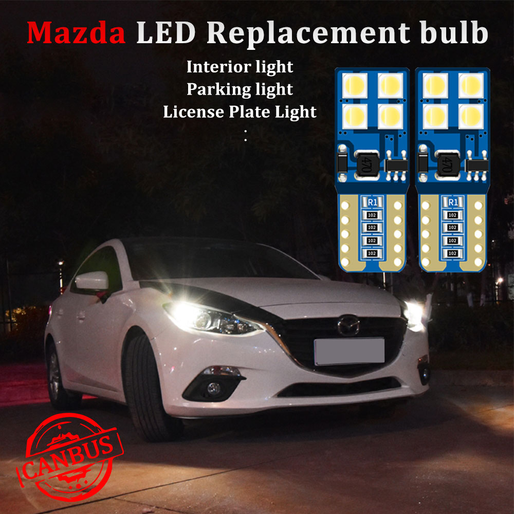 CANBUS W5W <font><b>T10</b></font> led Car light For mazda cx-5 cx5 323 rx8 cx 7 3 <font><b>bl</b></font> 2010 2015 6 gg gh 2014 mpv led Parking License Plate lights image