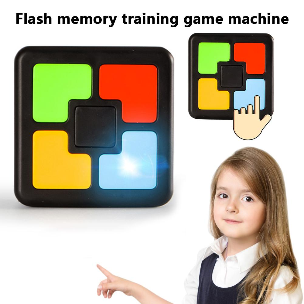Children Memory Game Console LED Light Flash Sound Interactive Educational Toy Training One-hand Brain Coordination Machine
