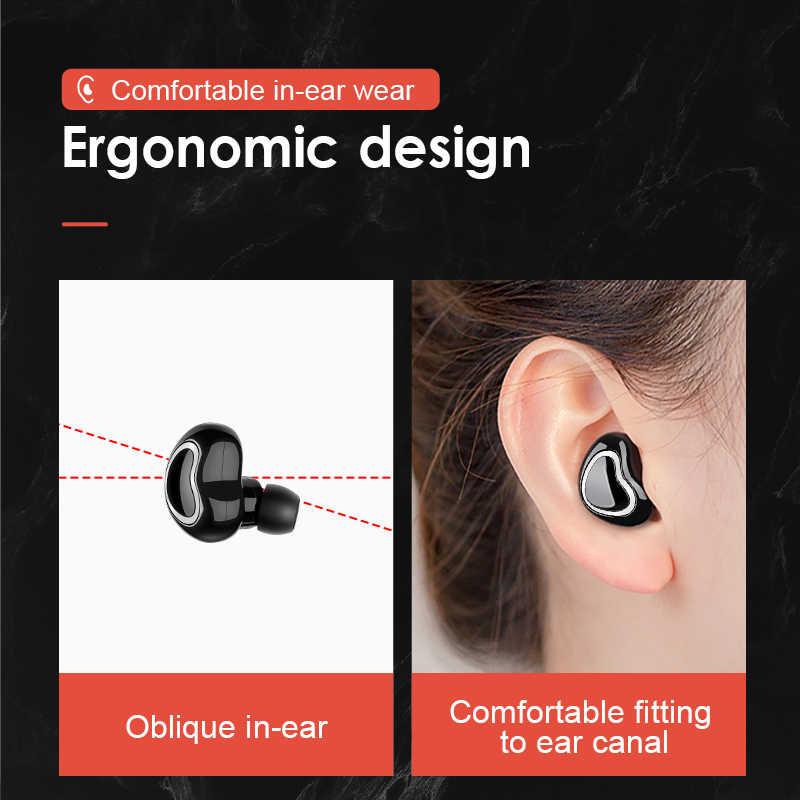SANLEPUS w kształcie serca douszne Mini uszny zatyczki do uszu bezprzewodowe słuchawki Bluetooth słuchawki zestaw słuchawkowy do iPhone'a X Samsung
