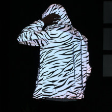 Reflecterende Jas Mannen Clown Casual Hiphop Slanke Streep Windjack Paar Nacht Jas Hooded Fluorescerende Kleding DG443(China)