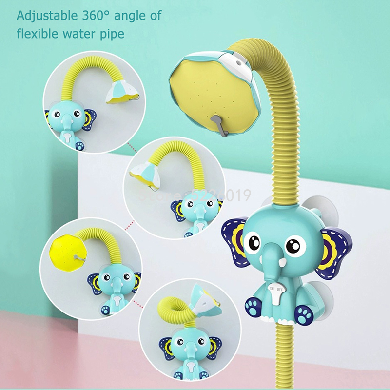 Bath Toys Electric Elephant Water Spray For Kids Baby Bathroom Bathtub Faucet Shower Toys Strong Suction Cup Children Water Game