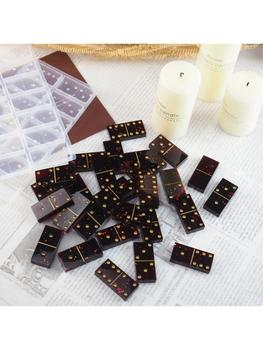 DIY Silicone Dominoes Game Play Epoxy Resin Molds Kit Game Casino Fun Art Crafts handmade silicone dominoes resin casting mold dominoes game play epoxy resin mold dominoes game casino fun art crafts