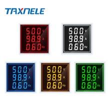 AC 60-500V 0-100A LED Digital Voltmeter Ammeter Hertz HZ Signal Lights 220V Voltage Current Meter Volt Amp Tester Detector
