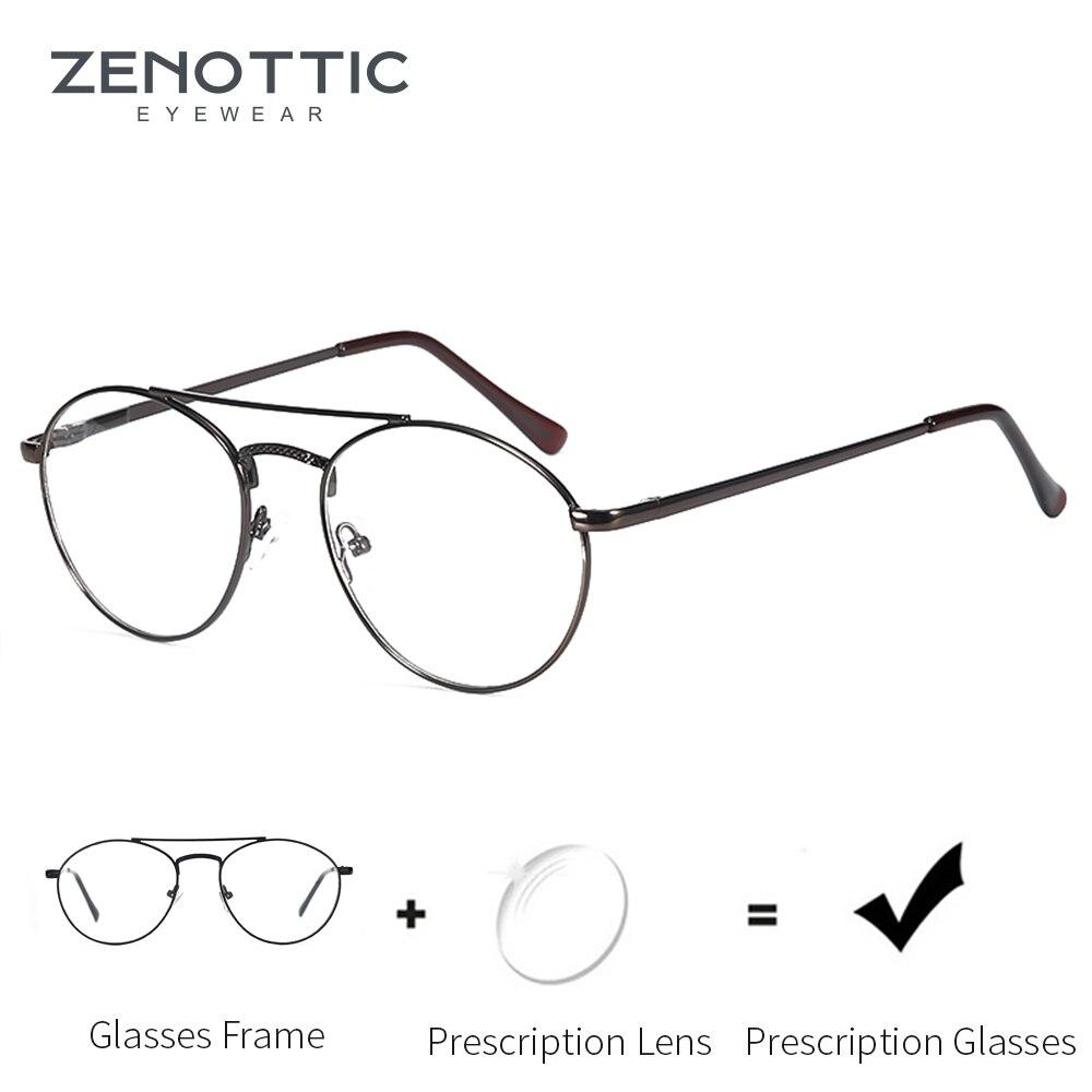 ZENOTTIC NEW Alloy Prescription Glasses Men Ultralight Myopia Prescription Eyeglasses 2019 Metal Optical Screwless Eyewear