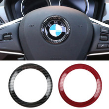 Автомобильный Стайлинг, кольцо на руль, отделка, самоклеящаяся круглая наклейка, автомобильное украшение для X1 X3 X4 X5 X6 M2 M3 BMW F07 F10 F15 F16
