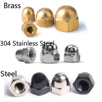 Stainless Steel Brass Black Carbon Steel Acorn Cap Nut Hex Metric Threaded Hexagon Nut M3 M4 M5 M6 M8 M10 M12 M14 M16 M18 M20 metric thread din934 m2 m2 5 m3 m4 m5 m6 m8 m10 m12 black grade 8 8 carbon steel hex nut hexagon nut screw nut a2 brand new