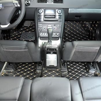 lsrtw2017 leather car floor mats for volvo xc90 2002 2003 2004 2005 2006 2007 2010 2011 2012 2013 2014 2015 carpet mat rug cover
