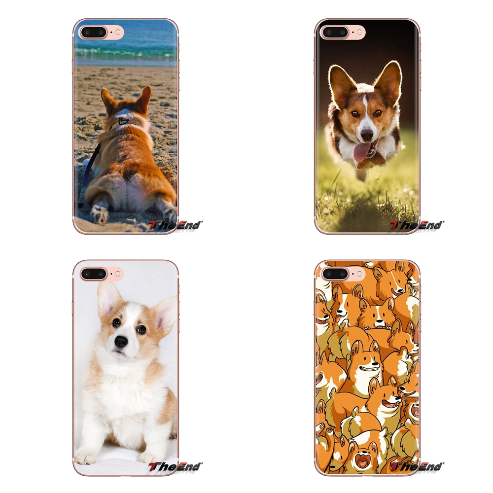 Silicone Skin Cover Pembroke Welsh Corgi Dog Puppy For LG G3 G4 Mini G5 G6 G7 Q6 Q7 Q8 Q9 V10 V20 V30 X Power 2 3 K10 K4 K8 2017