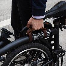 TWTOPSE cuero ciclismo bicicleta llevar cinta Correa cinturón para Brompton plegable bicicleta manillar cinta Vintage partes