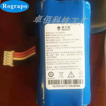 New Battery For Newland N910 NL18650D Accumulator 2600mAh Li-ion Replacement Batterie 5-wire Plug image