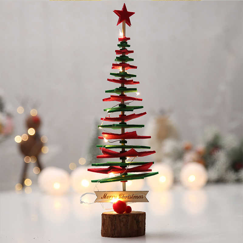 Diy Merasa Pohon Natal dengan 38 Pcs Ornamen Mainan Anak Tahun Baru Hadiah Natal Buatan Pohon Dinding Natal Dekorasi untuk rumah
