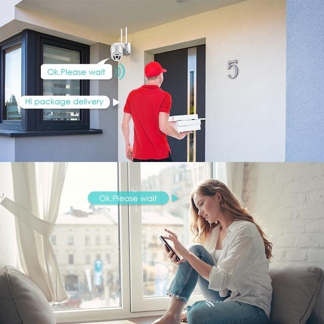 5MP Wifi IP-камера Наружная 3MP Ai Обнаружение человека Автоматическое слежение 4