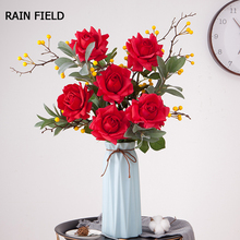 Artificial Fake Roses Fresh Rose Flowers Real Touch Home decorations for Wedding Party or Birthday