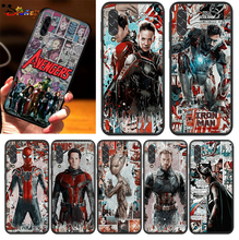 The Avengers superheroes per Samsung Galaxy A90 A80 A70S A60 A50S A50 A40 A40S A30 A30S A20E A20S A10S A10 A2 custodia per telefono