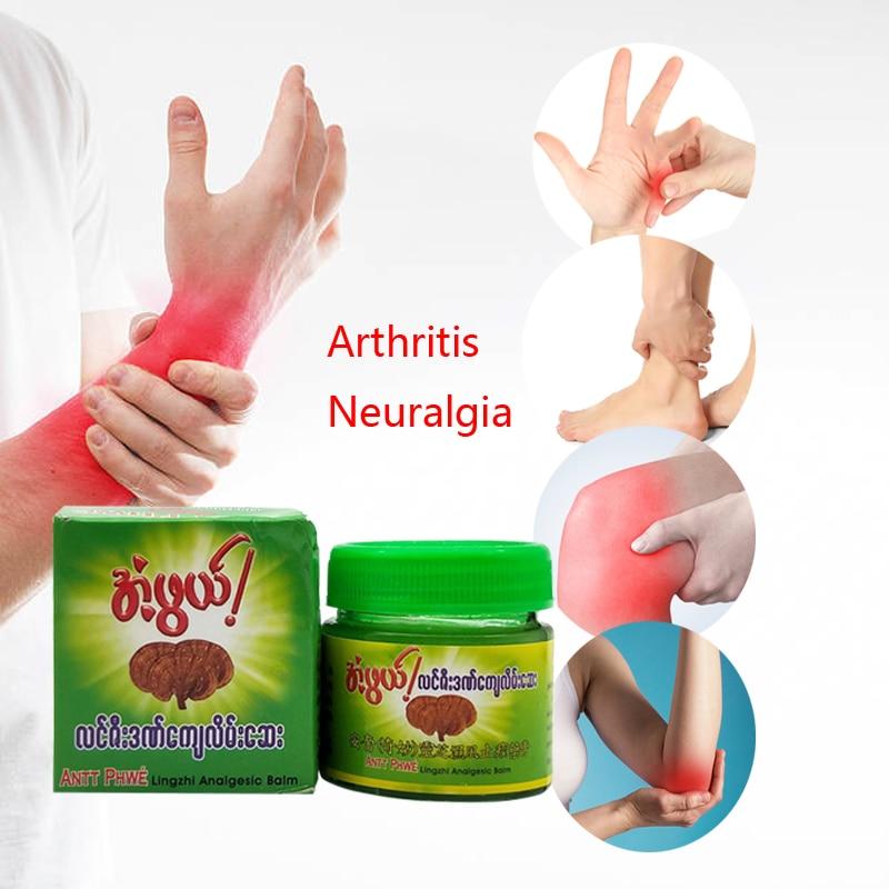ZB Myanmar Ganoderma Analgesic Cream Ointment Treat Rheumatoid Arthritis Joint Pain Back Pain Relief Herbal Cream Plaster