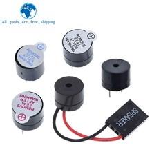 10pcs 3V 5V 12V Active Buzzer Magnetic Long Continous Beep Tone 12*9.5mm New And Original Hjxrhgal For Arduino