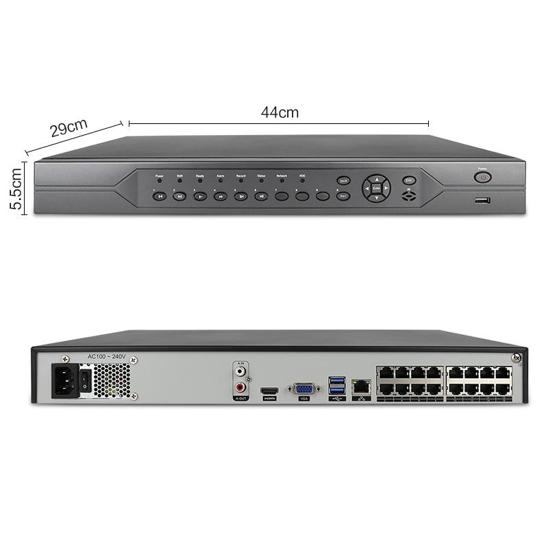 Techage 16CH 5MP 48V H.265 POE NVR Sicherheit System Dome POE IP Kamera Ein-Weg Audio Record Onvif CCTV Sicherheit Überwachung Kit