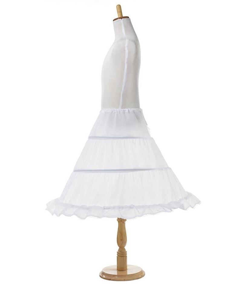 Tutu Skirts Girl Wedding Petticoat Bridal 3 Hoops Crinoline Prom Underskirt Fancy Skirt  Ball Gown Elastic Waist 3-14 Years 4