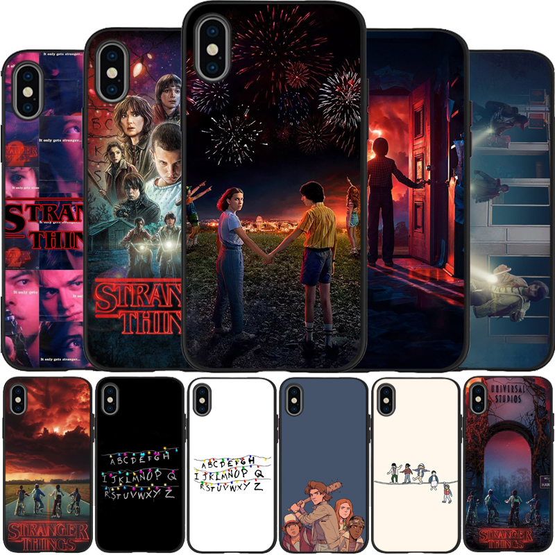 TV Stranger Things Case Cover Soft Silicone black Phone Case For iPhone 5 5S SE 6 plus 7 8 plus X XR XS Max 11 PRO Max(China)
