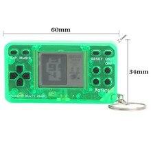 Juego de mano superior clásico Retro Vintage portátil consola llavero accesorio para niños consola de juegos Tetris