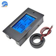 1 ensemble 4 en 1 tension courant puissance compteur d'énergie jauge AC 80-260V/100A voltmètre numérique ampèremètre avec transformateur de courant