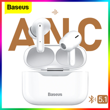Baseus S1 ANC Active Noise Cancelling Bluetooth 5.1 Earphone TWS True Wireless Earbud Hi-Fi Audio Gaming Headphone Touch Control