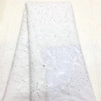 Best Quality white color African nigerian Lace Fabric velvet lace fabric Embroidery Party Dress new French Guipure