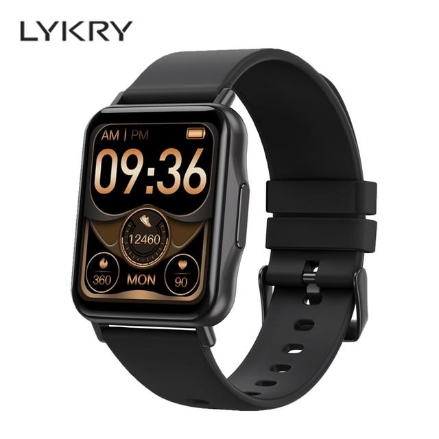 LYKRY Q15 Smart Watch Smartwatch Women 1.69 inch Screen 22MM DIY Watch Face Long Battery Blood Presure Men's Watches PK P8 PLUS 1