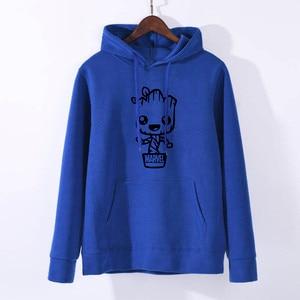 Image 3 - Groot Design Newest 2019 Funny kawaii Hoodie Womens Fashion Short Sleeve Hoodies  Hipster O neck Popular Sweatshirts