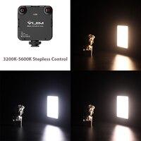 Vijim vl81 led video light 3200-5600k stepless 850lm 6.5w with cold shoe mini vlog fill light 3000mah battery camera light lamp