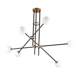 9 groothandel Brons Zwarte Afwerking Ijzer Fitting Hanglamp Vintage Stijl Met Led G Lamp Voor Thuis Restaurant Eetkamer Scandinavische-in Hanglampen van Licht & verlichting op