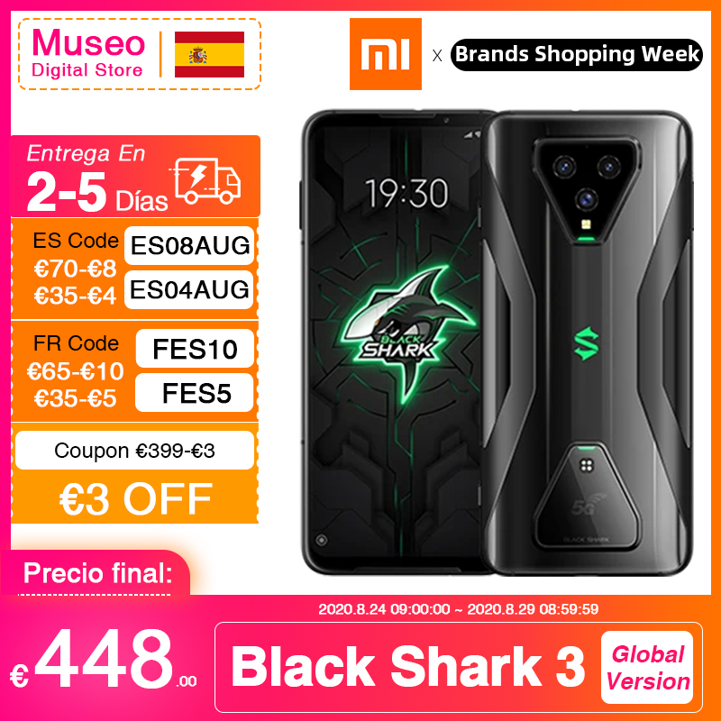 Global Version Xiaomi Black Shark 3 5G Snapdragon 865 Smartphone 8GB 128GB Game Phone Octa Core 64MP Triple AI Cams 30W 4720mAh