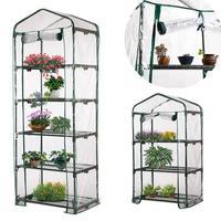 Cubierta de PVC para invernadero portátil de 3/4/5 niveles, plantas, flores, casa, resistente a la corrosión, impermeable (sin soporte de hierro)