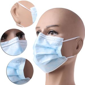 Image 2 - 50pcs Non Woven Disposable Face Mask 3 Layer Earloop Anti Dust proof Respirator Mouth Safety Breathable Protection Masks