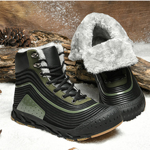 Jackshibo New Design Snow Ankle Boots Shoes For Men Male Winter Warm Fur Lining Snow Boots Outdoor Waterproof Motorcycle Boots