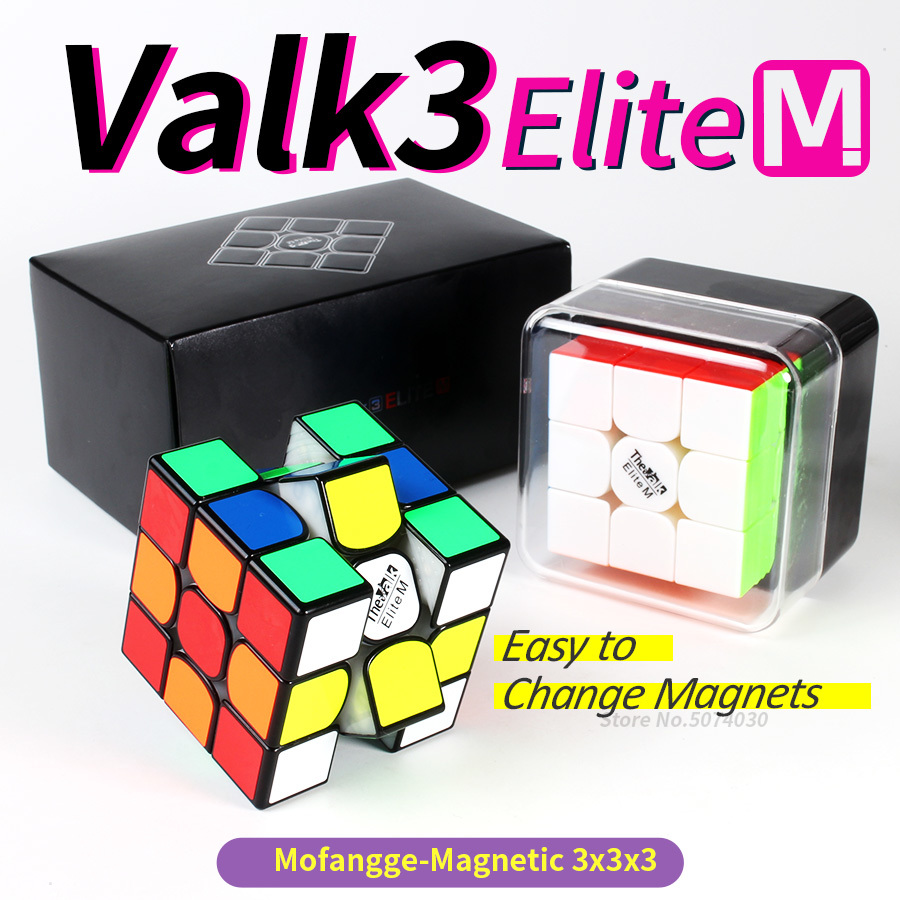 Valk3 Elite M Magnetische <font><b>Cube</b></font> 3x3x3 Stickerless Magneten Magic Speed <font><b>Puzzle</b></font> <font><b>Cube</b></font> Professionelle Mofangge Valk 3 elite M image