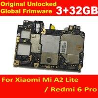 Original Entsperren Mainboard Motherboard Für Xiaomi Redmi 6 Pro Redmi6 Pro Schaltungen Bord Platte Globale 6pro / MiA2 lite Karte gebühr