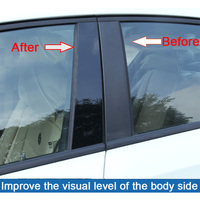 fit עבור הונדה crv סטיילינג רכב מדבקה לרכב דלת חלון Pillar הודעות פסנתר Trim כיסוי קיט Fit עבור הונדה CRV XRV סיוויק אקורד (1)